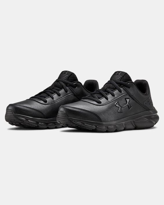 Grade School UA Assert 8 Uniform Synthetic Running Shoes, Black, pdpMainDesktop image number 3