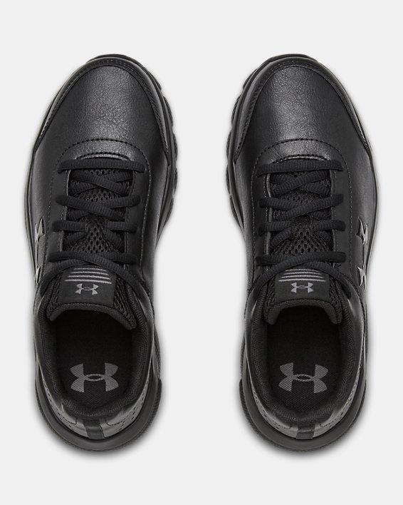 Grade School UA Assert 8 Uniform Synthetic Running Shoes, Black, pdpMainDesktop image number 2