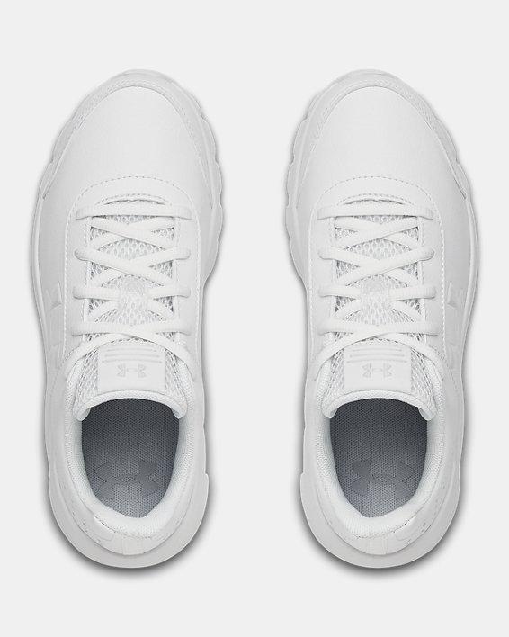 Grade School UA Assert 8 Uniform Synthetic Running Shoes, White, pdpMainDesktop image number 2