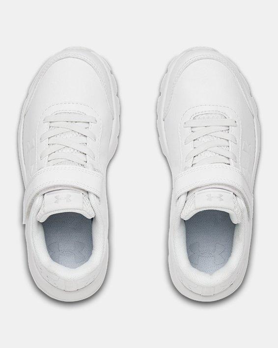 Pre-School UA Assert 8 Uniform Synthetic AC, White, pdpMainDesktop image number 2