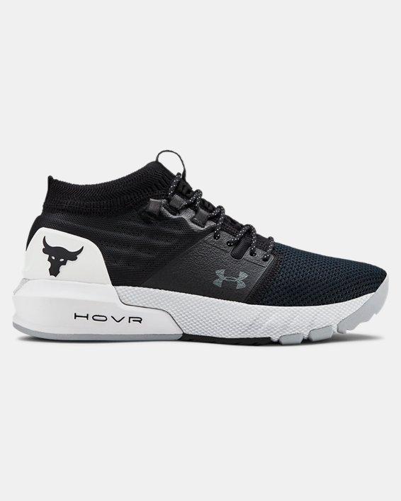 언더아머 프로젝트 락 2 빅키즈 트레이닝 슈즈 Under Armour Grade School UA Project Rock 2 Training Shoes,Black / White / Black - 001