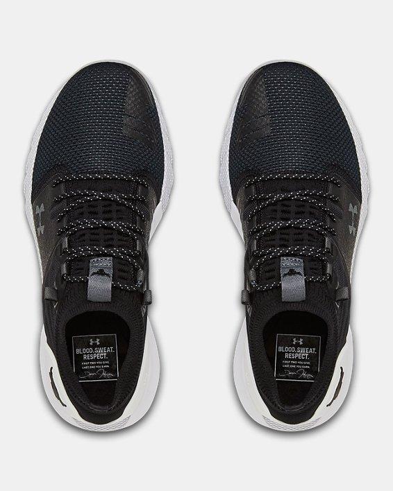 Grade School UA Project Rock 2 Training Shoes, Black, pdpMainDesktop image number 2