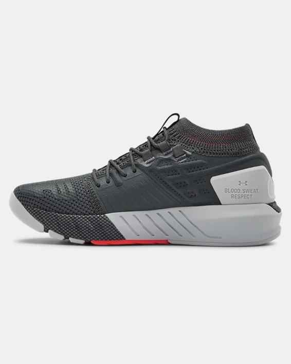 Grade School UA Project Rock 2 Training Shoes, Gray, pdpMainDesktop image number 1