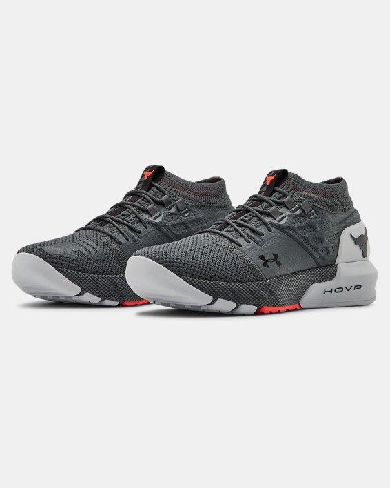 Grade School UA Project Rock 2 Training Shoes, Gray, pdpMainDesktop image number 3