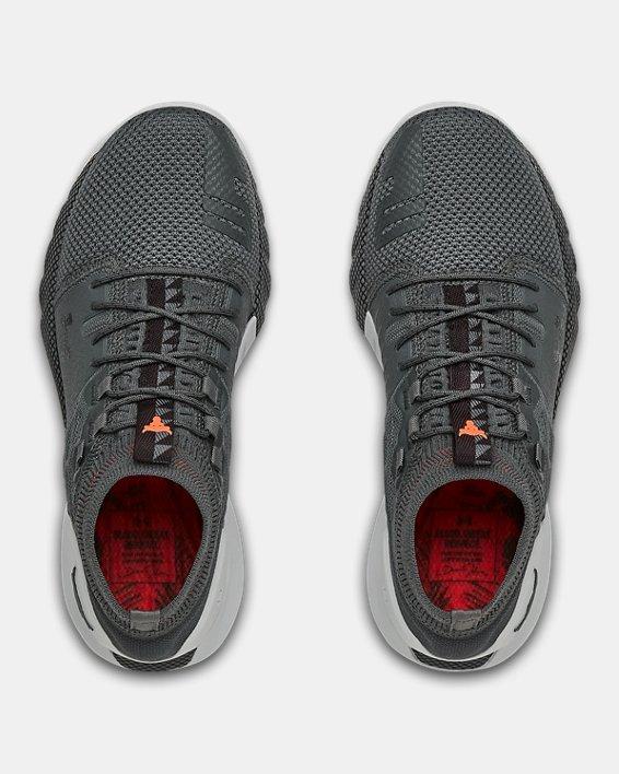 Grade School UA Project Rock 2 Training Shoes, Gray, pdpMainDesktop image number 2