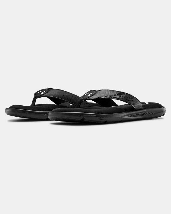 Men's UA Ignite III Sandals, Black, pdpMainDesktop image number 4