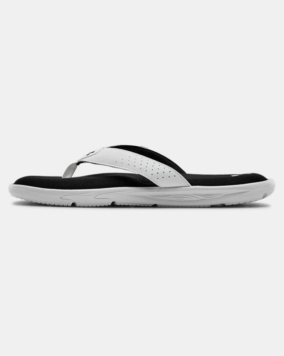 Men's UA Ignite III Sandals, White, pdpMainDesktop image number 1