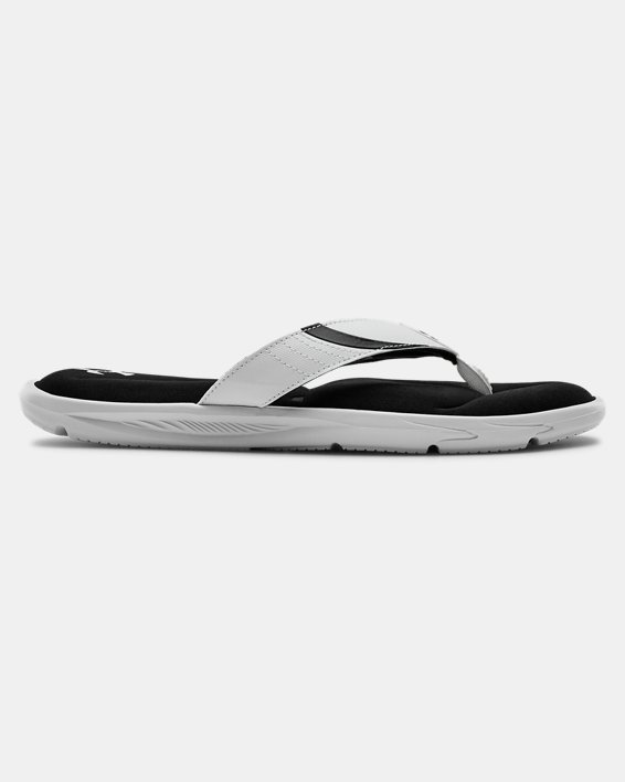 Men's UA Ignite III Sandals, White, pdpMainDesktop image number 0