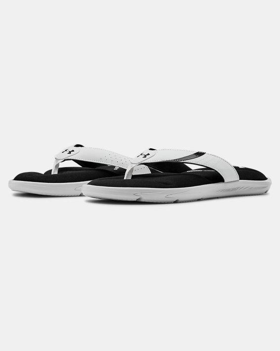 Men's UA Ignite III Sandals, White, pdpMainDesktop image number 4
