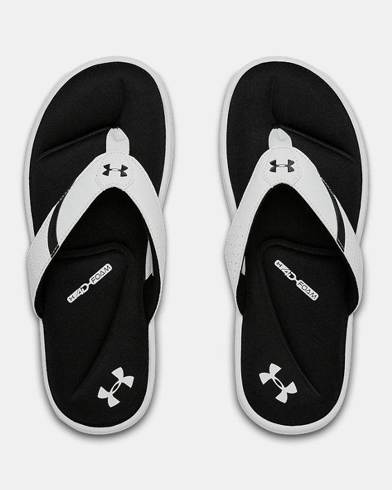 Men's UA Ignite III Sandals, White, pdpMainDesktop image number 3