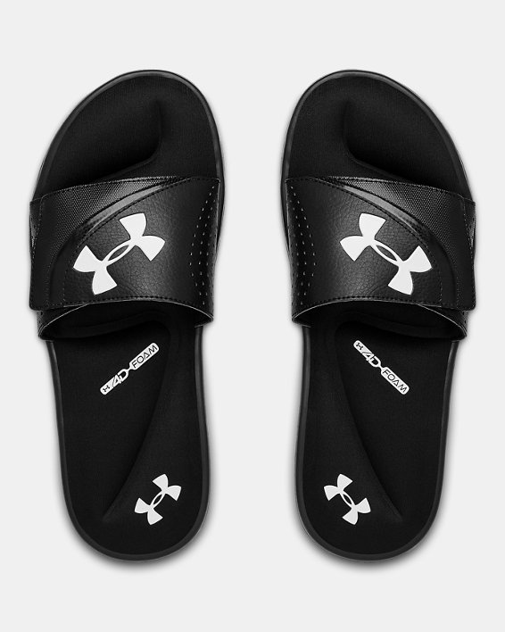 Men's UA Ignite VI Slides, Black, pdpMainDesktop image number 3