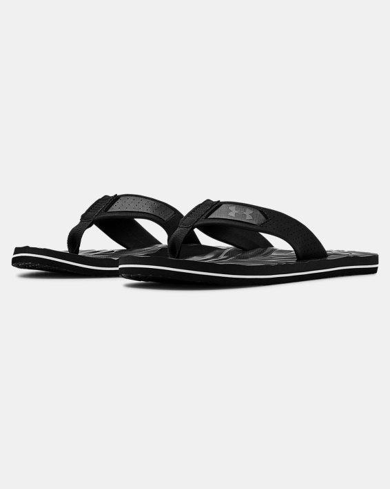 Men's UA Marathon Key IV Sandals, Black, pdpMainDesktop image number 4