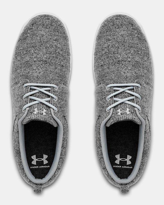 Men's UA Street Encounter Wool Slides, Gray, pdpMainDesktop image number 3