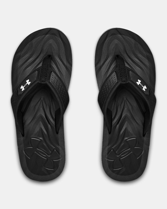 Boys' UA Marathon Key IV Sandals, Black, pdpMainDesktop image number 3
