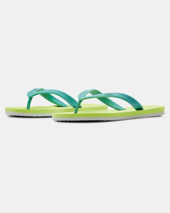 Girls' UA Atlantic Dune II Sandals, Yellow, pdpMainDesktop image number 4
