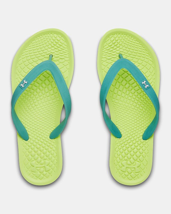 Girls' UA Atlantic Dune II Sandals, Yellow, pdpMainDesktop image number 3