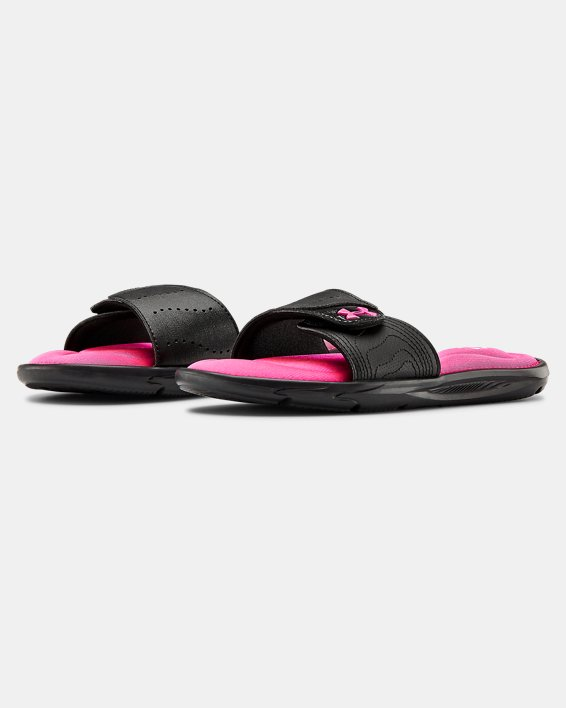 Girls' UA Ignite IX Slides, Black, pdpMainDesktop image number 4
