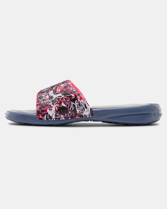 Girls' UA Playmaker Chroma Slides, Gray, pdpMainDesktop image number 1