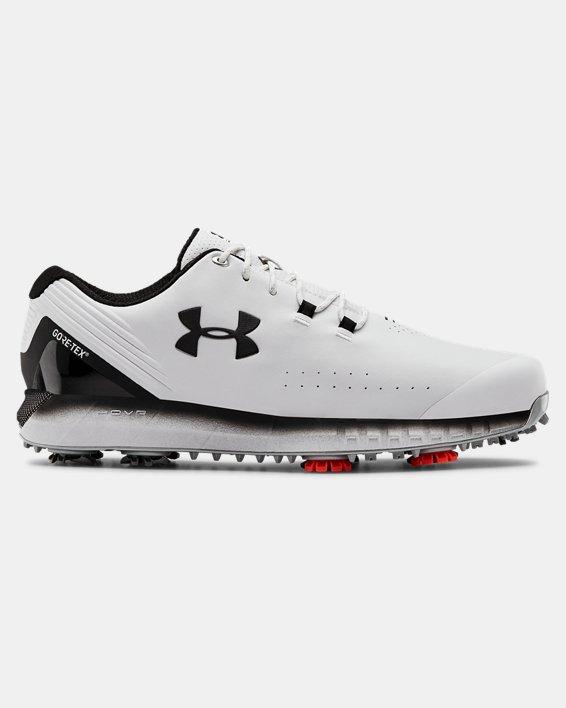 언더아머 맨 UA HOVR 드라이브 고어텍스 골프화 Under Armour Mens UA HOVR Drive GORE-TEX Golf Shoes,White / Black / Black - 100