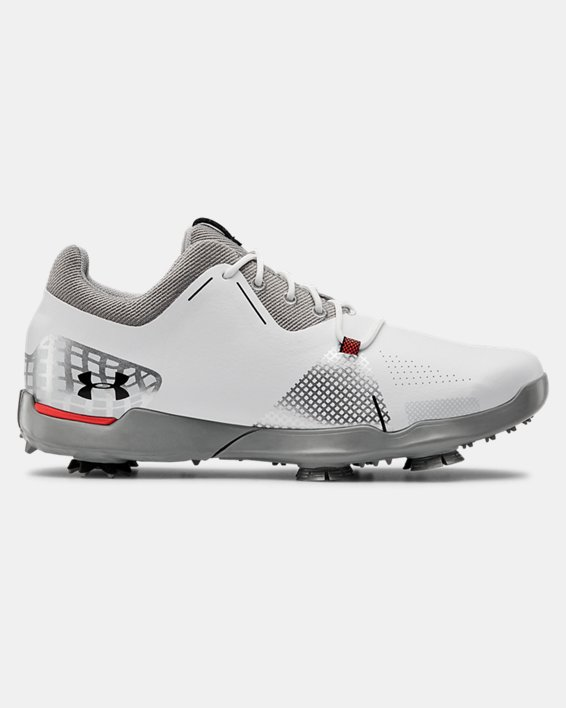 UA Spieth 4 Jr. Golf Shoes, White, pdpMainDesktop image number 0