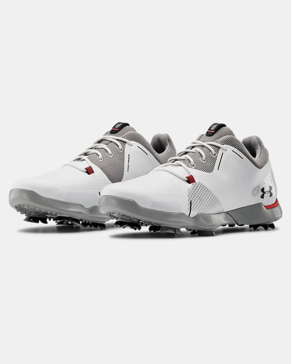 UA Spieth 4 Jr. Golf Shoes, White, pdpMainDesktop image number 4