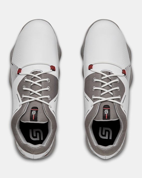 UA Spieth 4 Jr. Golf Shoes, White, pdpMainDesktop image number 3