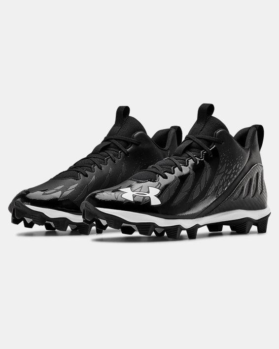 Men's UA Spotlight Franchise RM Football Cleats, Black, pdpMainDesktop image number 4