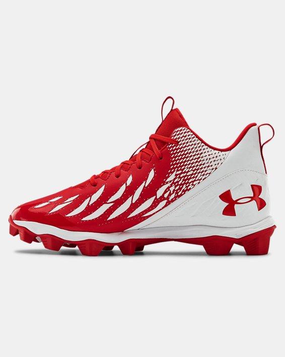Men's UA Spotlight Franchise RM Football Cleats, Red, pdpMainDesktop image number 1