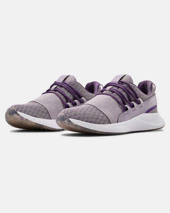 Women's UA Charged Breathe WHM Sportstyle Shoes, Purple, pdpMainDesktop image number 3