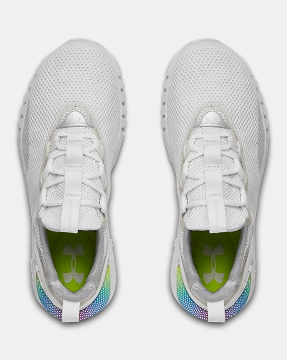 Women's UA HOVR™ STRT PRL IRID Sportstyle Shoes, White, pdpMainDesktop image number 2