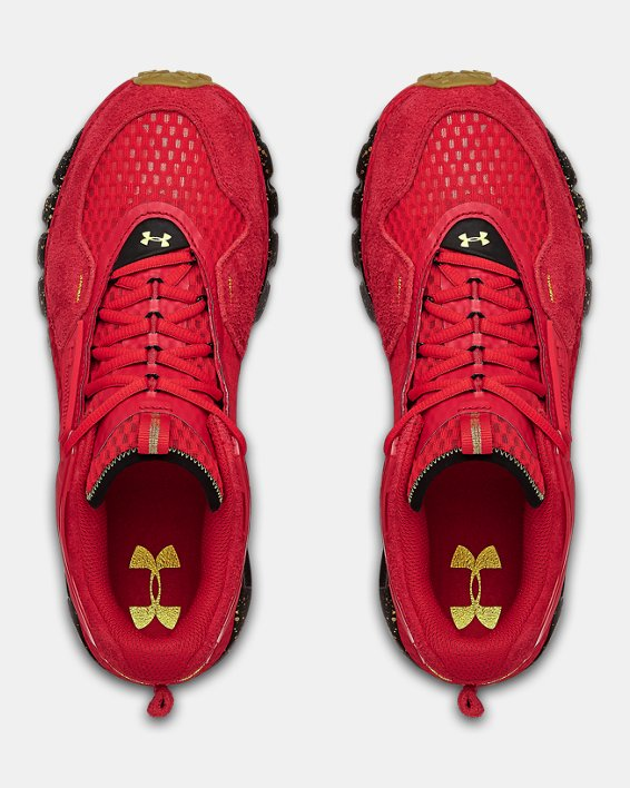 Unisex UA HOVR™ Summit CNY Sportstyle Shoes, Red, pdpMainDesktop image number 3