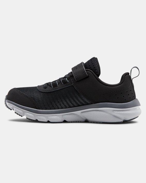 Pre-School UA Assert 8 AC Wide Running Shoes Running Shoes, Black, pdpMainDesktop image number 1