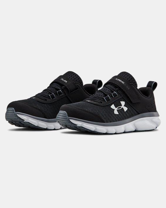 Pre-School UA Assert 8 AC Wide Running Shoes Running Shoes, Black, pdpMainDesktop image number 4