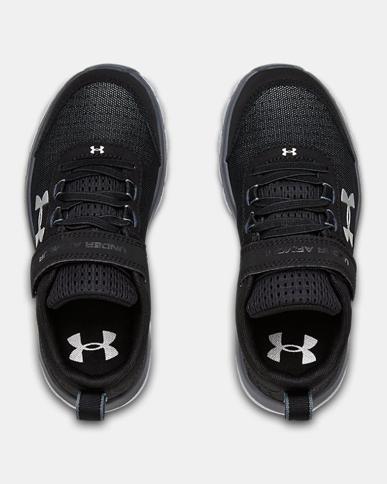 Pre-School UA Assert 8 AC Wide Running Shoes Running Shoes, Black, pdpMainDesktop image number 3