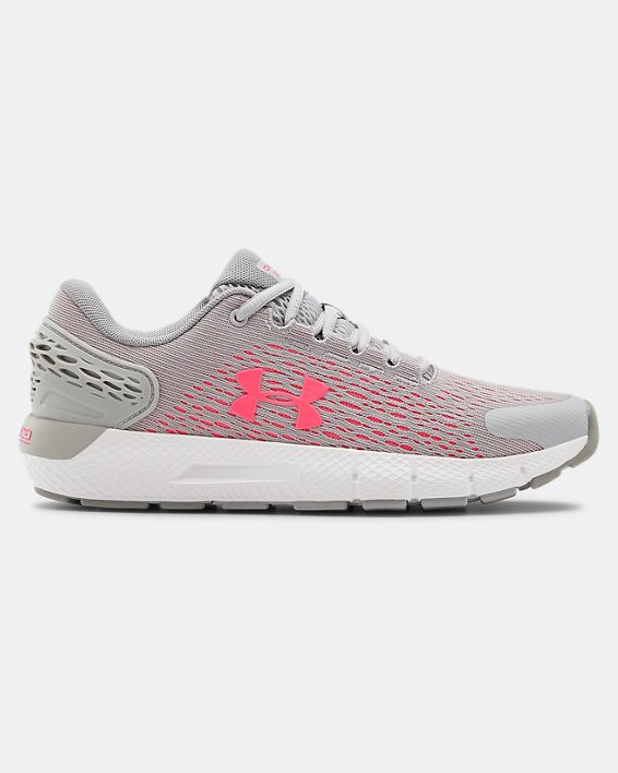 Grade School UA Charged Rogue 2 Running Shoes, Gray, pdpMainDesktop image number 0
