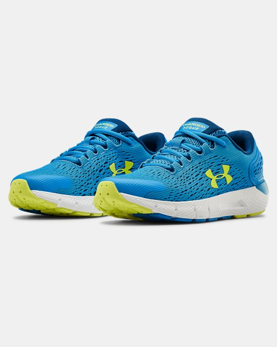 Grade School UA Charged Rogue 2 Running Shoes, Blue, pdpMainDesktop image number 4