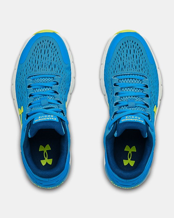 Grade School UA Charged Rogue 2 Running Shoes, Blue, pdpMainDesktop image number 3