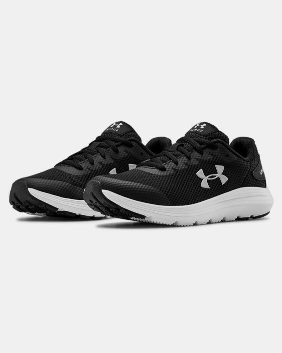 Grade School UA Surge 2 Running Shoes, Black, pdpMainDesktop image number 3