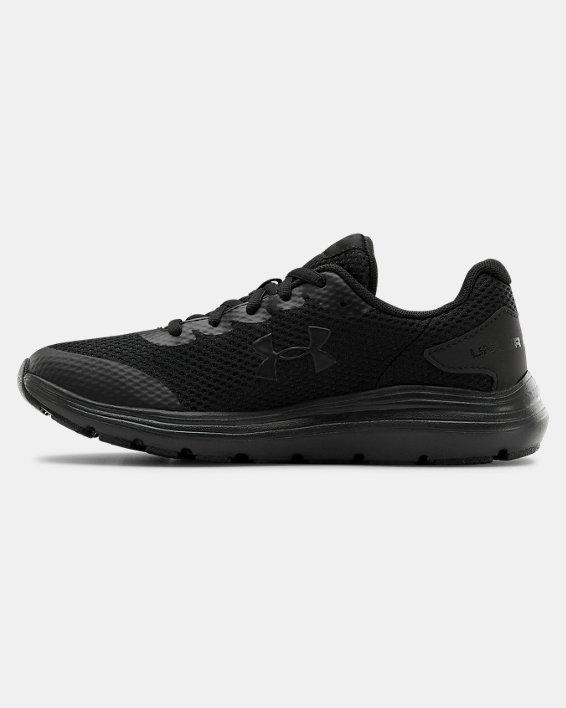 Grade School UA Surge 2 Running Shoes, Black, pdpMainDesktop image number 1
