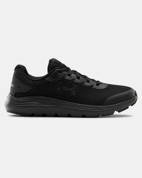 Grade School UA Surge 2 Running Shoes, Black, pdpMainDesktop image number 0