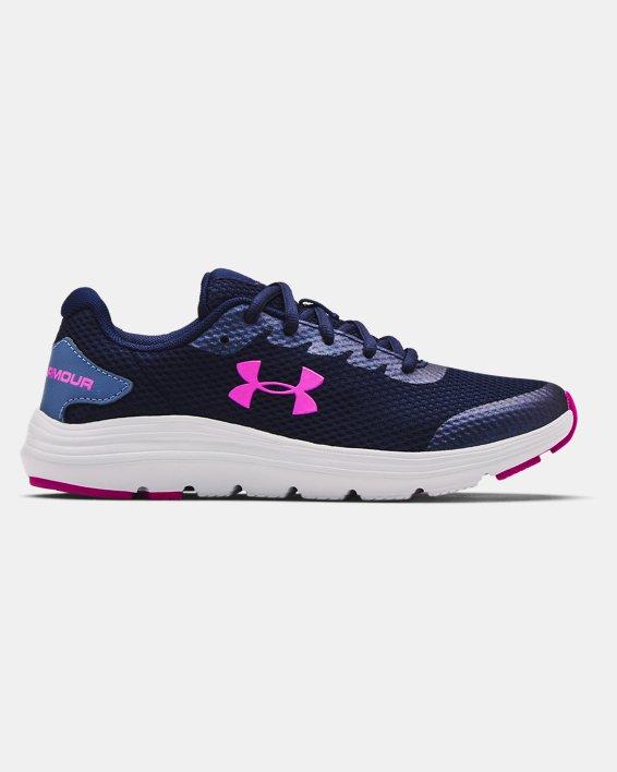 Grade School UA Surge 2 Running Shoes, Blue, pdpMainDesktop image number 0