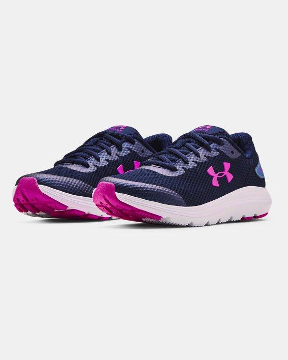 Grade School UA Surge 2 Running Shoes, Blue, pdpMainDesktop image number 3