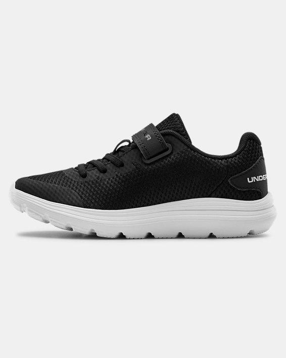 Pre-School UA Surge 2 AC Running Shoes, Black, pdpMainDesktop image number 1