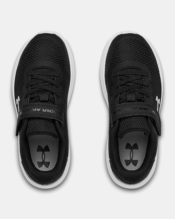Pre-School UA Surge 2 AC Running Shoes, Black, pdpMainDesktop image number 2