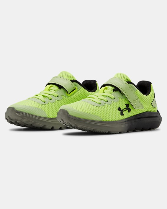 Pre-School UA Surge 2 AC Running Shoes, Yellow, pdpMainDesktop image number 4