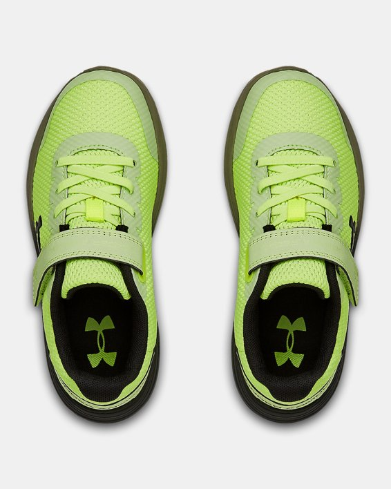 Pre-School UA Surge 2 AC Running Shoes, Yellow, pdpMainDesktop image number 3