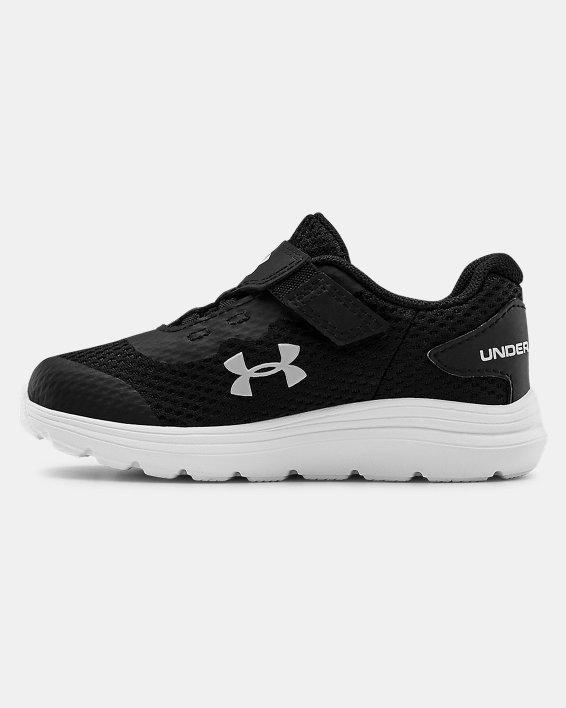 Infant UA Surge 2 AC Running Shoes, Black, pdpMainDesktop image number 1