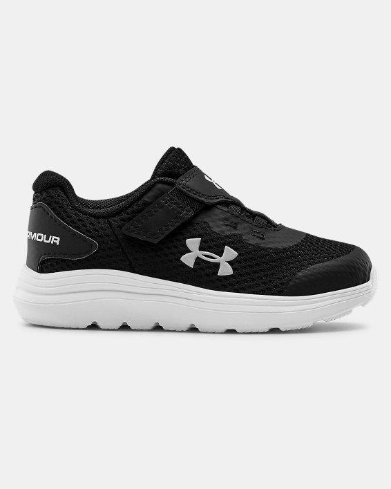 Infant UA Surge 2 AC Running Shoes, Black, pdpMainDesktop image number 0