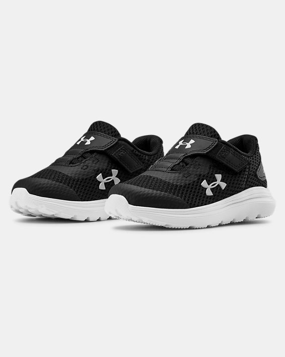 Infant UA Surge 2 AC Running Shoes, Black, pdpMainDesktop image number 3