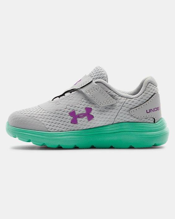 Infant UA Surge 2 AC Running Shoes, Green, pdpMainDesktop image number 1